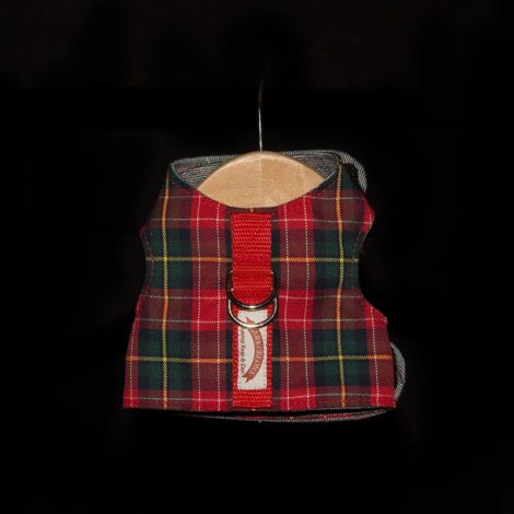 Arnés tipo chaleco scotish rojo Barkcelona