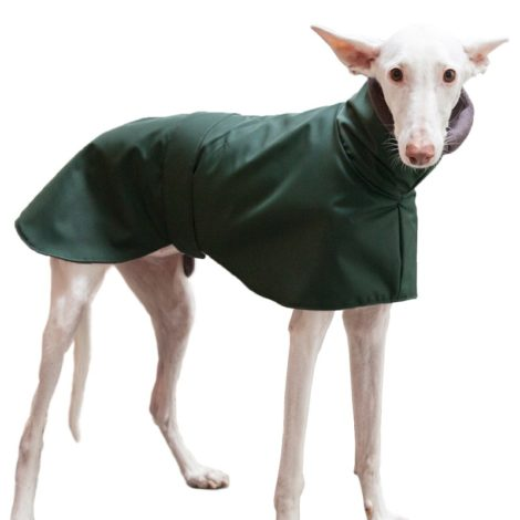 Abrigo impermeable con polar interior para galgo, podenco y whippet