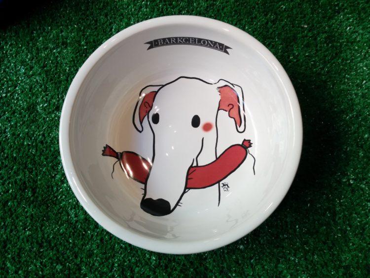 Comedero/bebedero de cerámica modelo Galgo