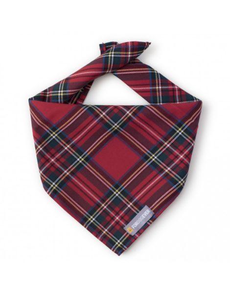 Pañuelo bandana para perro en tartán rojo