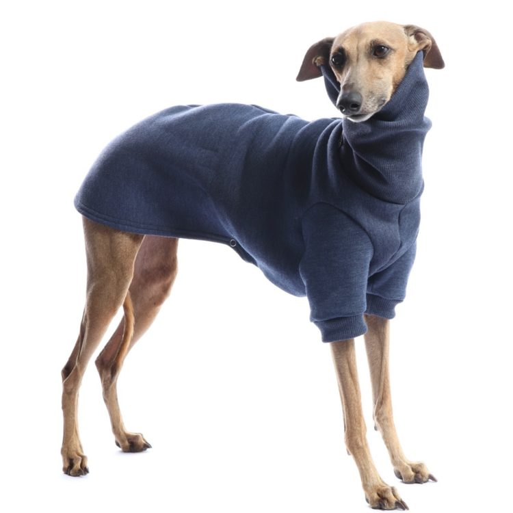 Pijama de algodón afelpado y cuello alto para piccolo, whippet, podenco y galgo