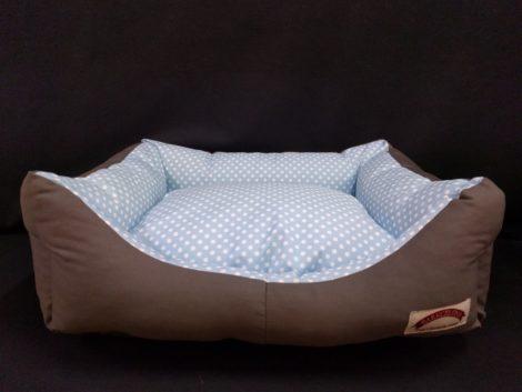 Cama tipo cuna para gatos y perros pequeños, medianos y grandes Barkcelona topitos azules