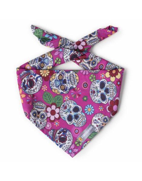 Pañuelo bandana para perros Pink Calaveras de Fordogever