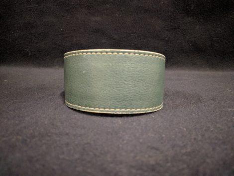 Collar de piel verde para galgo, podenco, whippet y piccolo