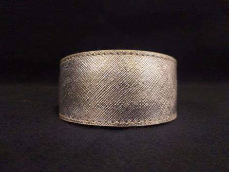 Collar de piel plateada para galgo, podenco, whippet y piccolo