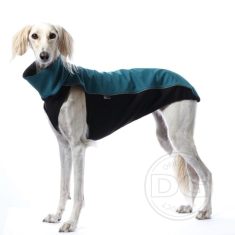Polar impermeable de Soft Shell turquesa para galgos, podencos, picccolos y whippets