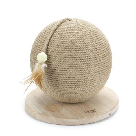 Rascador bola de madera para gatos