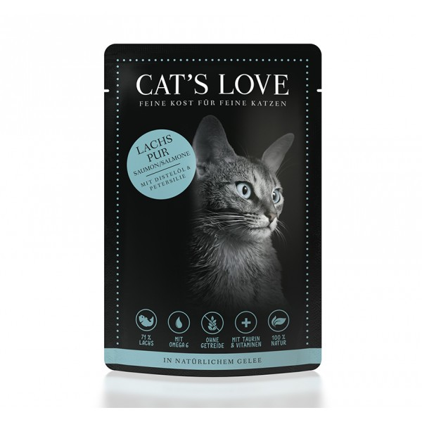 Cat's Love Adult Salmón Puro