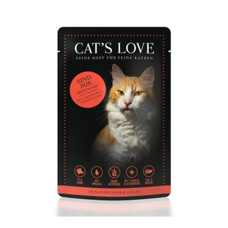 Cat's Love Adult Ternera Pura