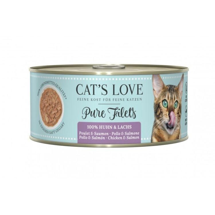 Cat's Love Filets Puros Pollo y Salmón