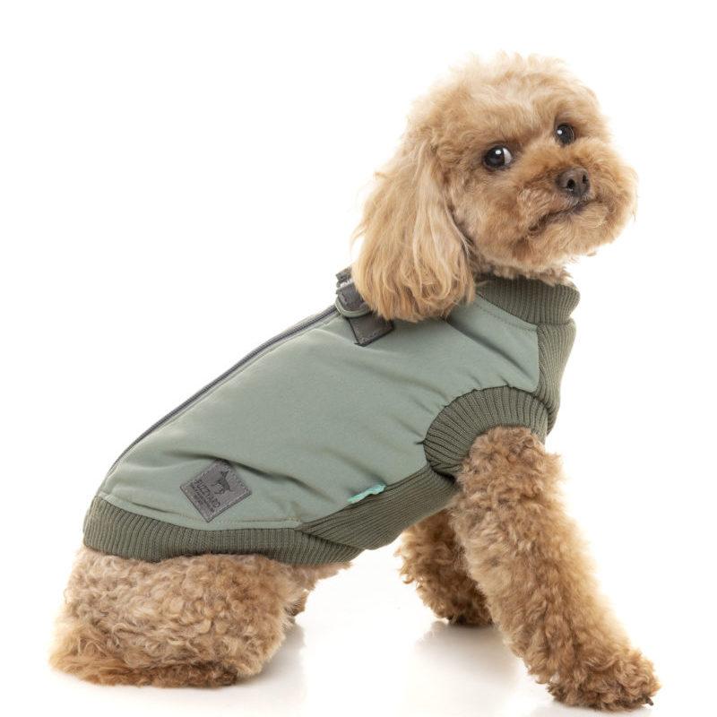 Chaqueta arnes Macgyver verde perros