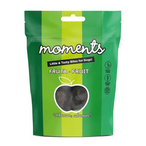 moments perro fruta